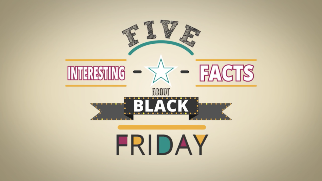 Illustration signifying 5 Interesting facts about black friday.