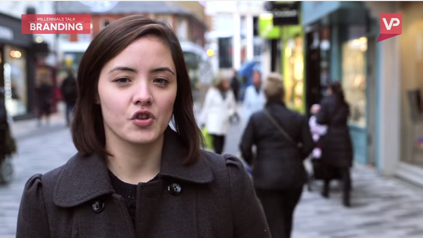 Screenshot taken from a video surrounding millennials attitudes towards branding and personal products