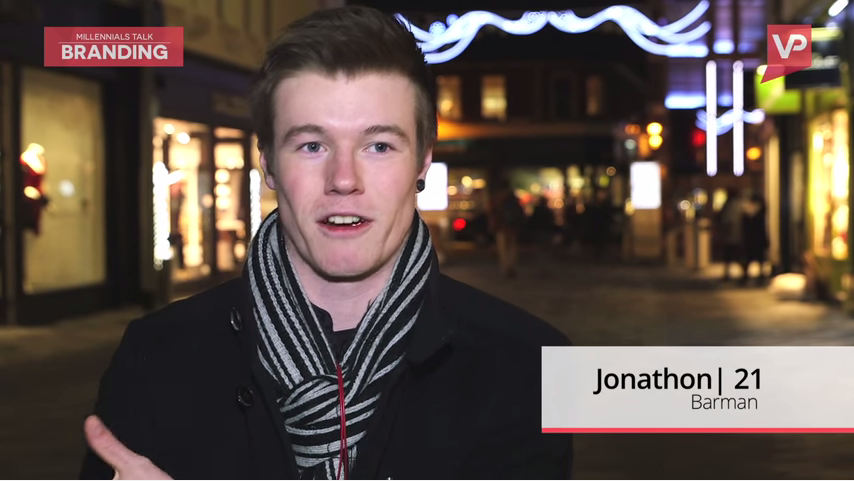 Still image captured from a video about millennials and their thoughts on celebrity personal branding