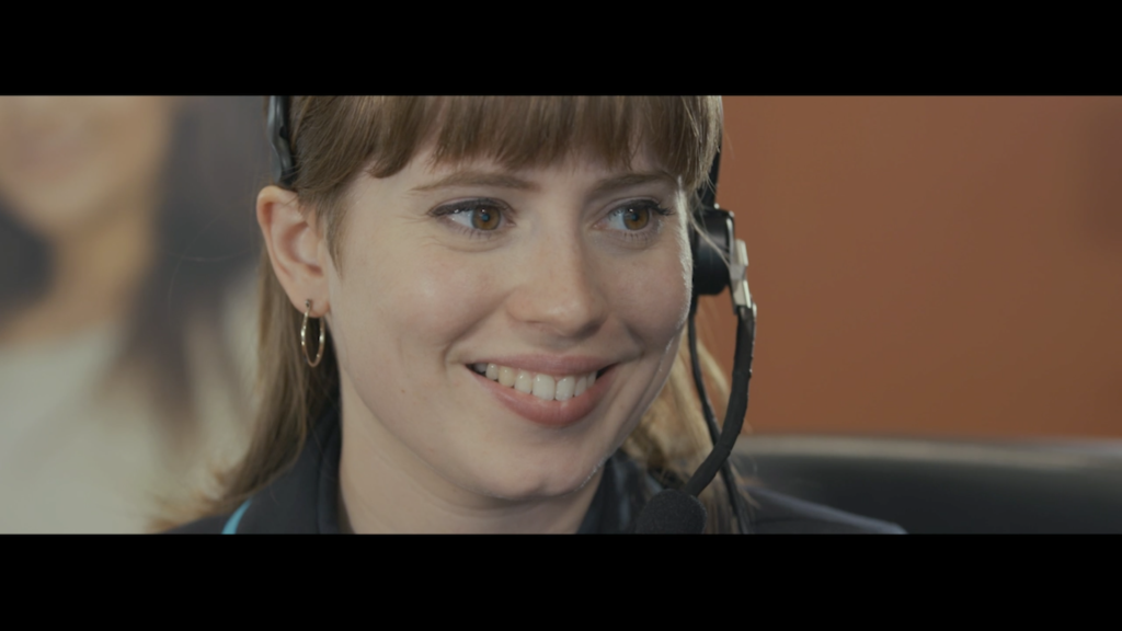 Screenshot of an actor from a scenario film we produced for an anonymous client.