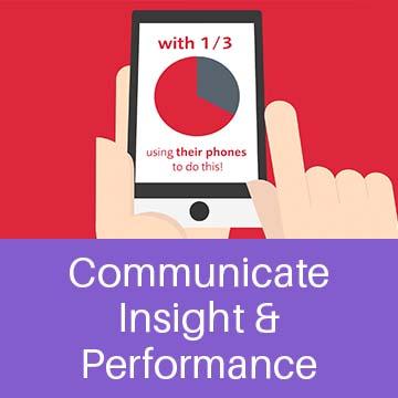 Communicate insight & performance