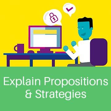 Explain propositions and strategies.