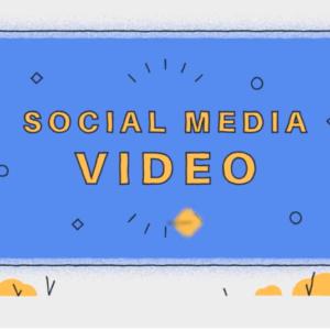 Title image reading 'social media videos'.